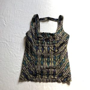 Anthropologie striped boho blouse sz:8 comfy cute